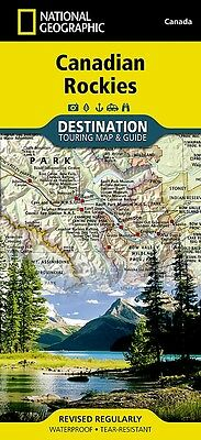 Canadian Rockies National Geographic Canada Touring Map & Guide Waterproof