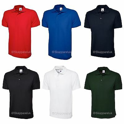 5 x Uneek Mens Ladies Lightweight Polo T Shirts Breathable Work Casual Unisex