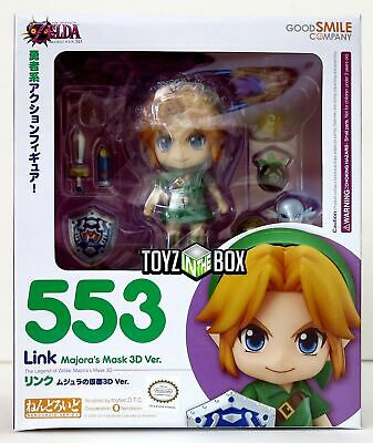 "In STOCK GSC ""Link"" Legend of Zelda Majora's Mask 3D Nendoroid 553 Action Figure"