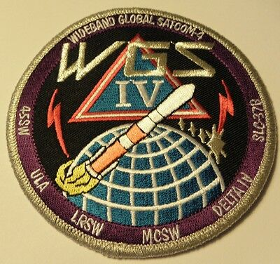 Delta Iv Wgs 4 Eelv Mission Usaf Launch Patch 45Sw Ula Lrsw Mcsw Wideband Global