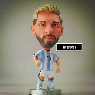 Statuina doll LIONEL MESSI 10 ARGENTINA football action figure 7 cm albiceleste