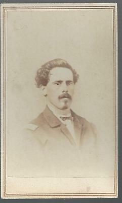 Civil War CDV of Capt John Toms, 27th OVI & 64th USCT
