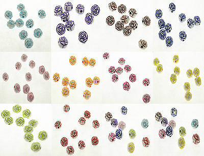 Lot 10 Perle fleur 12mm Couleur au choix, Creation bijoux, bracelet, collier