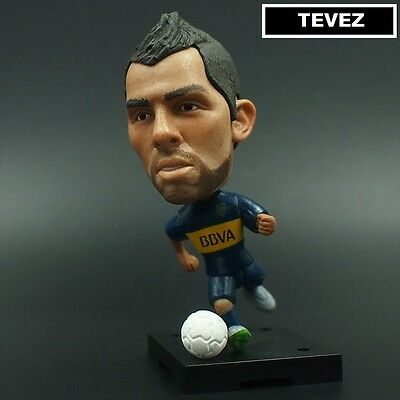 Statuina CARLOS TEVEZ #10 BOCA JUNIORS articulated football action figure 7 cm