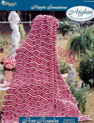 Sweet Confection Afghan TNS Ripple Sensations Crochet Pattern Leaflet NEW