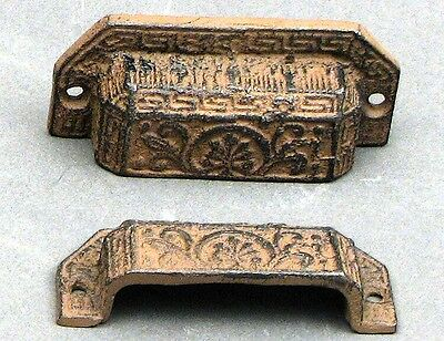 Cast Iron Antique Reproduction Drawer Handles Set of 4