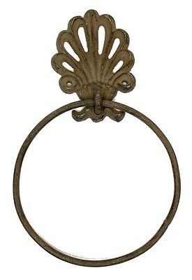 Cast iron Chic Ornate Towel Ring Holder