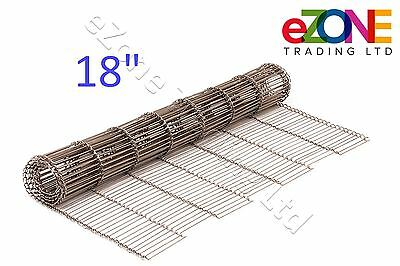 """18"""" Wire Mesh Conveyor Belt for MIDDLEBY Marshall Pizza Ovens, Stainless Chain"""