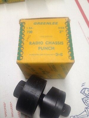 """Greenlee 2"""" Diameter 50.8mm Radio Chassis Knockout Punch 5004231 5004232 #4719"""