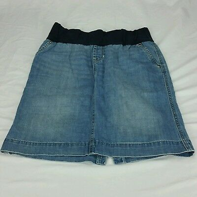 Gap Maternity stretch denim jean skirt 2 light wash above knee mid thigh