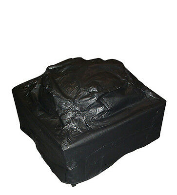 Outdoor Square Fire Pit Vinyl Cover w/Felt Lining & Fabric Ties