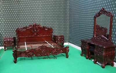 UK STOCK Cream or White 6 pieces Rococo Bedroom Set AS SEEN ONTHE PICTURES
