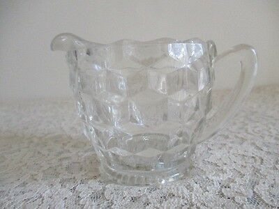 Depression Glass Cube Clear Creamer