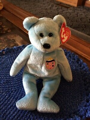 TY Beanie Baby: Eggs #2 -  The Turquoise Bear (4510)