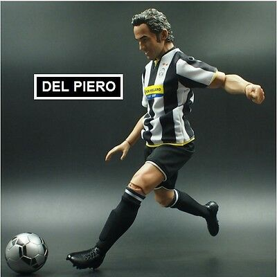realistic doll ALESSANDRO DEL PIERO JUVENTUS fc football action figure 1/6 scale