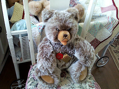 """Original Hermann Teddy made in West Germany 17"""" tall jointed"""