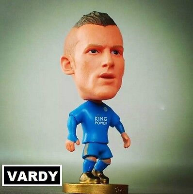 Statuina JAMIE VARDY 9 LEICESTER CITY Blue Home premier league action figure 7cm