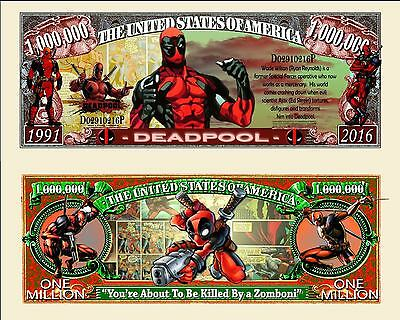 Deadpool Million Dollar Novelty Money