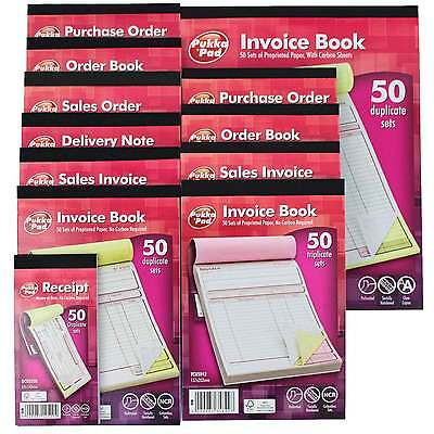 PUKKA PAD Invoice / Purchase Order / Sales Invoice / Delivery Note / Order Book