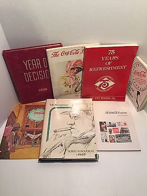 Coca-Cola Vintage Books Lot Of 7 - Year Of Decision, 50th Anniversary Issue, Etc