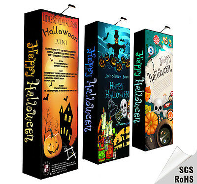 2.5×7.4ft Protable pop up stand trade show display custom graphic & trolley bag