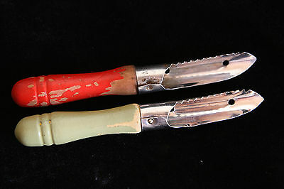 Vintage Potato Peeler - Red and Green Wooden Handles