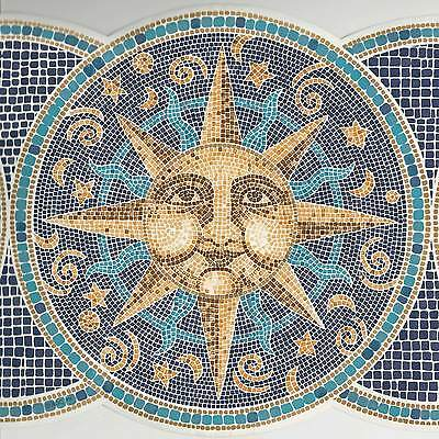 Canada$ - Dramatic Sun Moon Star Tile - 45 feet ONLY $25 - Wallpaper Border B069