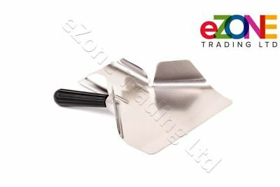 Heavy Duty Stainless Steel Catering Chip French Fry Bagger Scoop Right Handle