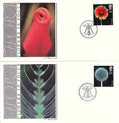 Great Britain 1987 Flora FDC Sc# 1168/71 (4) covers w/ Fleetwood cachet-WW7277