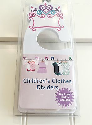 NIB Belly Gigglez Children's Clothes Crown Dividers