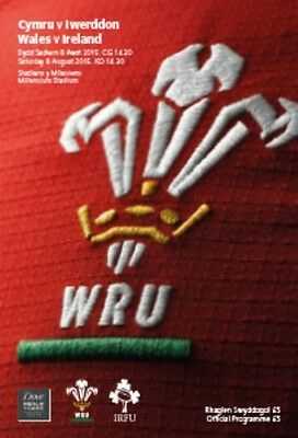 * WALES v IRELAND - INTERNATIONAL RUGBY PROGRAMME (8th August 2015) *