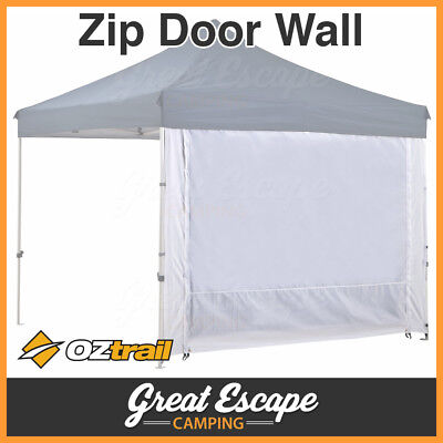 1 x Oztrail Deluxe Gazebo Solid Wall 3m with 2 Zip Door