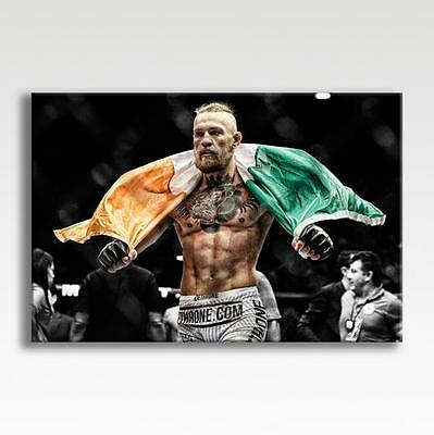 "Conor McGregor Ireland Flag UFC Canvas Poster Photo Picture Wall Art 30"" x 20"""