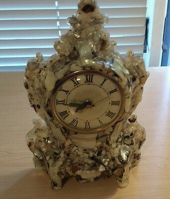 Lanshire Clock Movements Mother of Pearl Mantle Clock