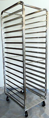 Bakery Pastry Rack Trolley - Stainless Steel