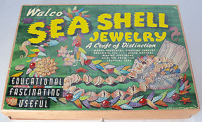 Antique Walco Sea Shell Jewelry Kit 1945 Bead Kit