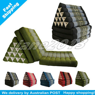 Jumbo Thai Triangle Pillow Mattress Cushion DayBed 3FOLDS 5 patterns  Xmas gift
