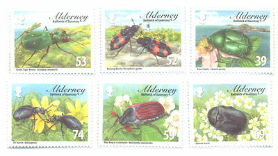 Alderney-Beetles mnh Insects