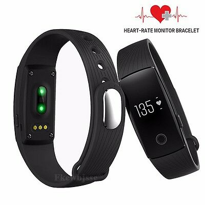 Bluetooth 4.0 Smart Watch Bracelet Wristband Heart Rate Monitor Fitness Tracker