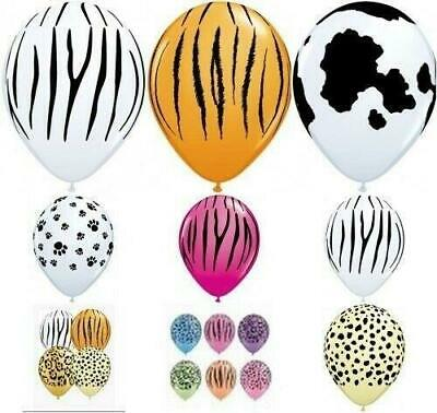 """Qualatex  5  x 11"""" Animal Print Latex Balloons Suitable for air or helium"""