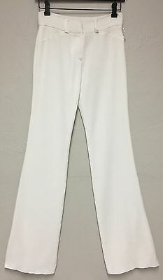 Exclusively Misook White Straight Leg Career Knitwear Pants Slacks Trousers