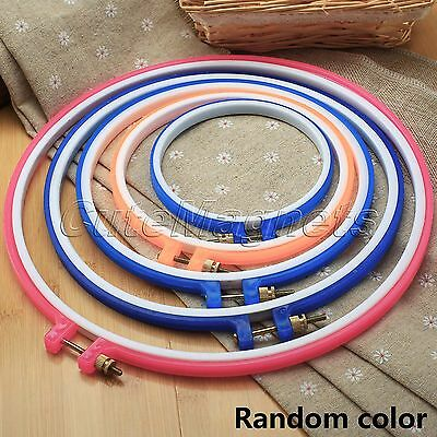 "Plastic Cross Stitch Hand Machine Embroidery Hoop Ring Sewing Tool 4.7"" To 10.6"""