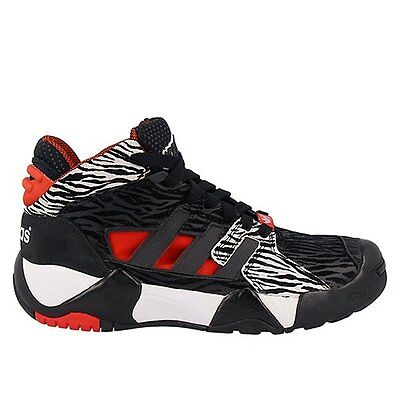Adidas Originals Basketball Streetball Shoes Trainers Black Hi Top Sneakers