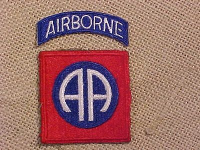 Original Wwii 82Nd Airborne Paratrooper Patch With Tab #2
