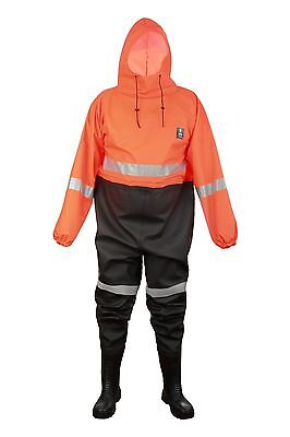 Waterproof Overall For Draining Canal's Worker With Pvc Safety Boots S5   304/k