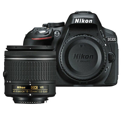Nikon D5300 24.2 MP CMOS Digital SLR Camera + Nikon 18-55mm VR AF-P Lens Kit