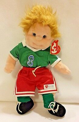 """1999 TY Beanie Kids Soccer Chipper 10"""" NMWT"""