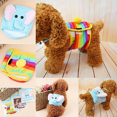 Male Pet Dog Belly Wrap Band Diaper Nappy Pants Puppy Sanitary Underwear S M L