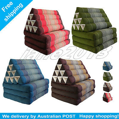 L Thai Triangle Pillow Fold Out Mattress Cushion Day Bed 3FOLDS 4color best gift