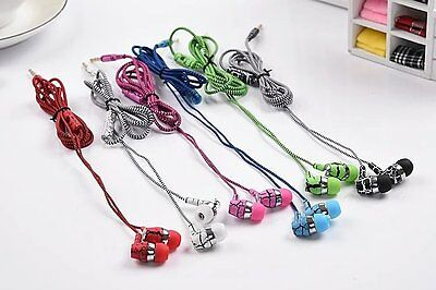 Pack of 6 crack stereo earbuds earphones  w/ Mic for Iphone samsung LG wholesale